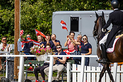 Impression Zuschauer<br /> Junge Reiter Team Competition Part 1<br /> Pilisjászfalu - FEI Youth Dressage EUROPEAN CHAMPIONSHIPS 2020<br /> 17. August 2020<br /> © www.sportfotos-lafrentz.de/Stefan Lafrentz
