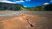 Fissures in the Kilauea Iki caldera, Hawaii Volcanoes National Park, Hawaii USA