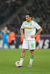 07.02.2014, Borussia Park, Moenchengladbach, GER, 1. FBL, Borussia Moenchengladbach vs Bayer 04 Leverkusen, 20. Runde, im Bild Juan Arango (Borussia Moenchengladbach #18) enttaeuscht // during the German Bundesliga 20th round match between Borussia Moenchengladbach and Bayer 04 Leverkusen at the Borussia Park in Moenchengladbach, Germany on 2014/02/08. EXPA Pictures © 2014, PhotoCredit: EXPA/ Eibner-Pressefoto/ Schueler<br /> <br /> *****ATTENTION - OUT of GER*****