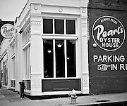Pearl's Oyster House off main street in downtown Memphis Tennessee.
