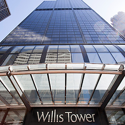 Chicago Willis Tower (Sears Tower) skyscraper high resolution photo. Willis Tower is one of the tallest buildings in Chicago and the world.