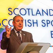 First Minister Alex Salmond MSP launches an exhibition that celebrates Scotland's sporting history and brings together some of the oldest trophies in Scottish and world sport. Scotland House, GLASGOW. 23 July 2014. (c) Paul J Roberts / StockPix.eu