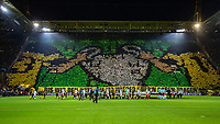 Football - 2018 / 2019 UEFA Champions League - Round of Sixteen, Second Leg: Borussia Dortmund (0) vs. Tottenham Hotspur (3)<br /> <br /> The Yellow wall ahead of kick off as the teams are about to come on the pitch at Signal Iduna Park (Westfalenstadion).<br /> <br /> COLORSPORT/DANIEL BEARHAM