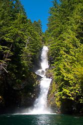 Waterfall, Ross Lake National Recreation Area, North Cascades National Park, Washington, US