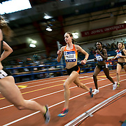 February 20, 2016 - New York, NY : Molly Huddle, center left, and Betsy Saina, center right, compete in the Women's 5000m during the 2016 NYRR Millrose Games at the The New Balance Track & Field Center at The Armory in Washington Heights, Manhattan, on Saturday afternoon. Betsy Saina (14:57.18) edged out Molly Huddle (14:57.31) for the win. CREDIT: Karsten Moran for The New York Times