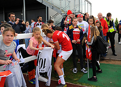 Ella Rutherford of Bristol City signs autographs at the end of the match- Mandatory by-line: Nizaam Jones/JMP - 28/04/2019 - FOOTBALL - Stoke Gifford Stadium - Bristol, England - Bristol City Women v West Ham United Women - FA Women's Super League 1