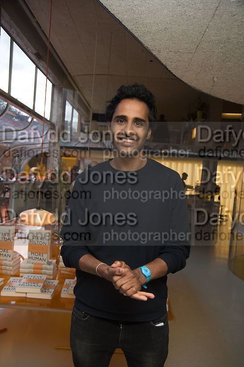 ROHAN SILVA, Launch of ' More Human',  Designing a World Where People Come First' by Steve Hilton. Party held at Second Home in Princelet St, off Brick Lane, London. 19 May 2015.