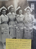 A photo of Grace Amemiya (second on right) with fellow students at University of California San Francisco School of Nursing in 1941...This picture was shot at Collegiate Presbyterian Church, 159 Sheldon Ave, in Ames, Iowa on Thursday, March 29, 2012. (Stephen Mally/Freelance)