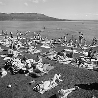 Ba&eth;strandarl&iacute;f &aacute; Laugarvatni, 1973<br />