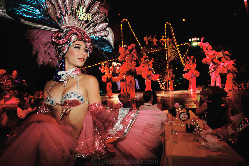 Stage show at the Tropicana Nightclub, Havana, Cuba.