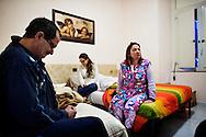 Napoli, Italia - 11 dicembre 2010. La famiglia Salzano nella loro stanza/casa all'interno del Vergilius hotel a Napoli..Ph. Roberto Salomone Ag. Controluce.ITALY - Salzano family in their room/house in Vergilius hotel in Naples on December 11, 2010.