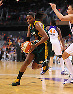 Sep 17, 2011; Phoenix, AZ, USA; Seattle Storm forward Camille Little (20) drives the ball on the court against the Phoenix Mercury during the second half at the US Airways Center.  The Mercury defeated the Storm 92 - 83. Mandatory Credit: Jennifer Stewart-US PRESSWIRE