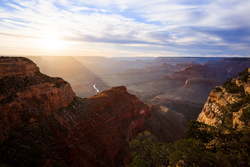 The Grand Canyon from Hopi Point on the South Rim.