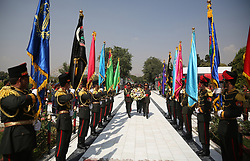 August 19, 2017: Afghan honor guards stand during the celebration of Afghan Independence Day in Kabul, Afghanistan. Saturday marked the 98th anniversary of its independence from the British empire occupation. (Credit Image: © Rahmat Alizadah/Xinhua via ZUMA Wire)