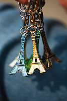 Mini Eiffel Towers for sale, Paris, France