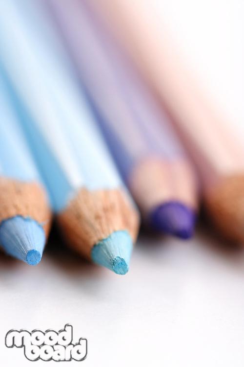 Rainbow colored pencils - close-up