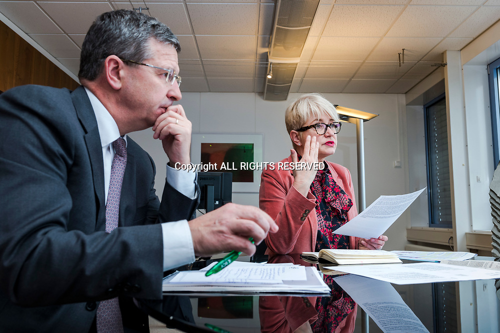 Lausanne, mars 2018. Claudine Amstein (CVCI) et Christophe Reymond (Centre patronal), les deux directeurs des faîtières économiques vaudoises. © Olivier Vogelsang