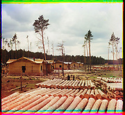 What Russian Empire Looked Like Before 1917… In Colour<br /> <br /> <br /> The Sergei Mikhailovich Prokudin-Gorskii Collection features colour photographic surveys of the vast Russian Empire made between ca. 1905 and 1915. Frequent subjects among the 2,607 distinct images include people, religious architecture, historic sites, industry and agriculture, public works construction, scenes along water and railway transportation routes, and views of villages and cities. An active photographer and scientist, Prokudin-Gorskii (1863-1944) undertook most of his ambitious colour documentary project from 1909 to 1915. <br /> <br /> Photo Shows; Railroad construction on the Shadrinsk-Sinara railroad near the city of Shadrinsk. (1912)<br /> ©Library of Congress/Prokudin-Gorskii/Exclusivepix Media