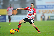 Exeter City's Jordan Tillson during the Sky Bet League 2 match between Exeter City and Accrington Stanley at St James' Park, Exeter, England on 23 January 2016. Photo by Graham Hunt.