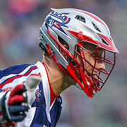 Will Manny #1 of the Boston Cannons reacts to a call during the game at Harvard Stadium on May 10, 2014 in Boston, Massachusetts. (Photo by Elan Kawesch)