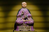 France, Paris (75), Musée Guimet, Trois arhat, Chine, Jiangxi, 18e siecle // France, Paris, Guimet museum, Three arhat, China, Jiangxi, 18th century