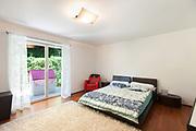 Interior of apartment, nice bedroom, parquet floor