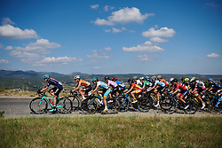 The peloton make their way up the early climb at Tour Cycliste Féminin International de l'Ardèche 2018 - Stage 7, a 90.9km road race from Chomerac to Privas, France on September 18, 2018. Photo by Sean Robinson/velofocus.com