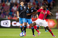26.05.2012, Ullevaal Stadion, Oslo, NOR, UEFA EURO 2012, Testspiel, Norwegen vs England, im Bild England's Ashley Young (Manchester United) in action against Norway's Alexander Tettey (Rennes) during the Preparation Game for the UEFA Euro 2012 betweeen Norway and England at the Ullevaal Stadium, Oslo, Norway on 2012/05/26. EXPA Pictures © 2012, PhotoCredit: EXPA/ Propagandaphoto/ Vegard Grott..***** ATTENTION - OUT OF ENG, GBR, UK *****