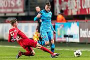 ENSCHEDE - 17-12-2016, FC Twente - AZ, Grolsch Velst Stadion, FC Twente speler Jelle van der Heyden\n, AZ speler Thomas Ouwejan