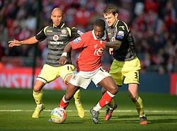 Bristol City's Kieran Agard in action. - Photo mandatory by-line: Alex James/JMP - Mobile: 07966 386802 - 22/03/2015 - SPORT - Football - London - Wembley Stadium - Bristol City v Walsall - Johnstone Paint Trophy Final