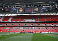 27-05-2011 VOETBAL: CHAMPIONS LEAGUE FINAL FC BARCELONA - MANCHESTER UNITED: LONDON<br /> The Wembley  Stadium is getting ready to host the Champions League Final between Barcelona and Manchester United at the Wembley Stadium  in London<br /> ***NETHERLANDS ONLY***<br /> ©2011- FotoHoogendoorn.nl/nph/Marcello Pozzetti