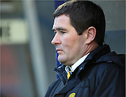 Nigel Clough  during the Sky Bet League 1 match between Rochdale and Burton Albion at Spotland, Rochdale, England on 30 January 2016. Photo by Daniel Youngs.