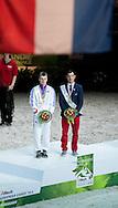 Jacques Ferrari, (FRA), Francois Athimon - Individuals Men Final Vaulting - Alltech FEI World Equestrian Games&trade; 2014 - Normandy, France.<br /> &copy; Hippo Foto Team - Becky Stroud<br /> 05/09/2014