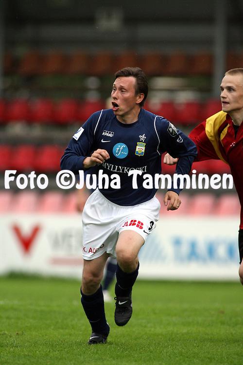 10.06.2007, Tammela, Tampere, Finland..Suomen Cup, 5. kierros / Finnish Cup, 5th round.KOO-VEE - Myllykosken Pallo-47.Saku Puhakainen - MyPa.©Juha Tamminen.....ARK:k