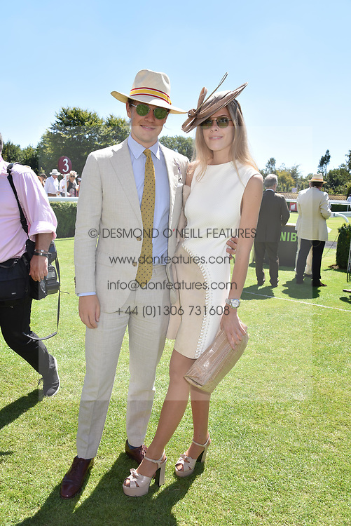 The Earl of March and ELÉONORE DECAUX  at the Qatar Goodwood Festival - Glorious Goodwood, Goodwood Racecourse, West Sussex 02 August 2018.