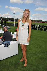 ZOE HOBBS at the Audi International Polo Day held at Guards Polo Club, Smith's Lawn, Windsor on 22nd July 2012.