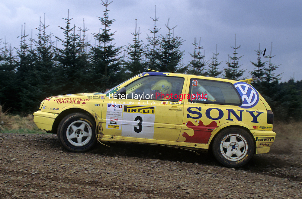 Mobil 1/RAC British Rally Championship 1997. Pirelli International Rally. Alister McRae / David Senior. SBG Sport. VW Golf GTi. World Copyright: Peter Taylor/PSP. Copy of publication required for printed pictures. Every used picture is fee-liable..