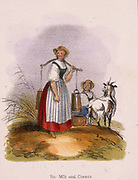 The goat keeper. From 'Graphic Illustrations of Animals and Their Utility to Man', London, c1850.
