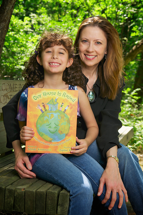 Yolanda Kondonassis who wrote kid's book about saving the environment. Book is called Our House is Round. Her eight-year-old daughter Amanda was the inspiration for the story.