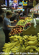 Reading Terminal Market, Woman, Produce, Philadelphia, PA