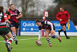Phoebe Murray of Bristol Bears Women scores a try - Mandatory by-line: Paul Knight/JMP - 11/01/2020 - RUGBY - Shaftesbury Park - Bristol, England - Bristol Bears Women v Firwood Waterloo Women - Tyrrells Premier 15s