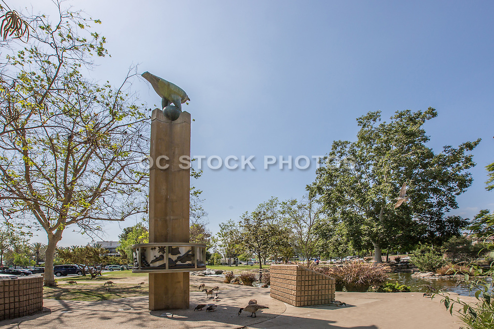 Tranquilty Base Here-The Eagle has Landed Sculpture at the Bicentennial Mall in Garden Grove