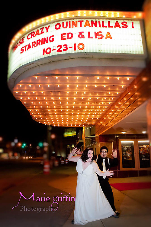 Lisa and Ed's wedding at Spring Grove Norman Chapel and reception at 20th Century Theater on Oct. 23, 2010<br /> Photography by: Marie Griffin<br /> Assistant: Brett Dennis