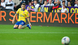 SWANSEA, WALES - Saturday, September 28, 2013: Arsenal's Mesut Ozil in action against Swansea City during the Premiership match at the Liberty Stadium. (Pic by David Rawcliffe/Propaganda)