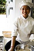 Cook at Knai Bang Chatt. Kep, Cambodia