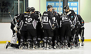 New Zealand team huddle before the match with china, 100% Pure New Zealand Winter Games, Ice Hockey. New Zealand v China at Dunedin Ice Stadium, Dunedin, New Zealand. Wednesday 17 August 2011. New Zealand. Photo: Richard Hood/photosport.co.nz