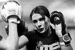 Los Angeles, California, USA - February 25, 2015: Cat Zingano works out at the UFC Gym for her upcoming bout against Ronda Rousey at UFC 184 at the Staples Center in Los Angeles, California.  Ed Mulholland for ESPN