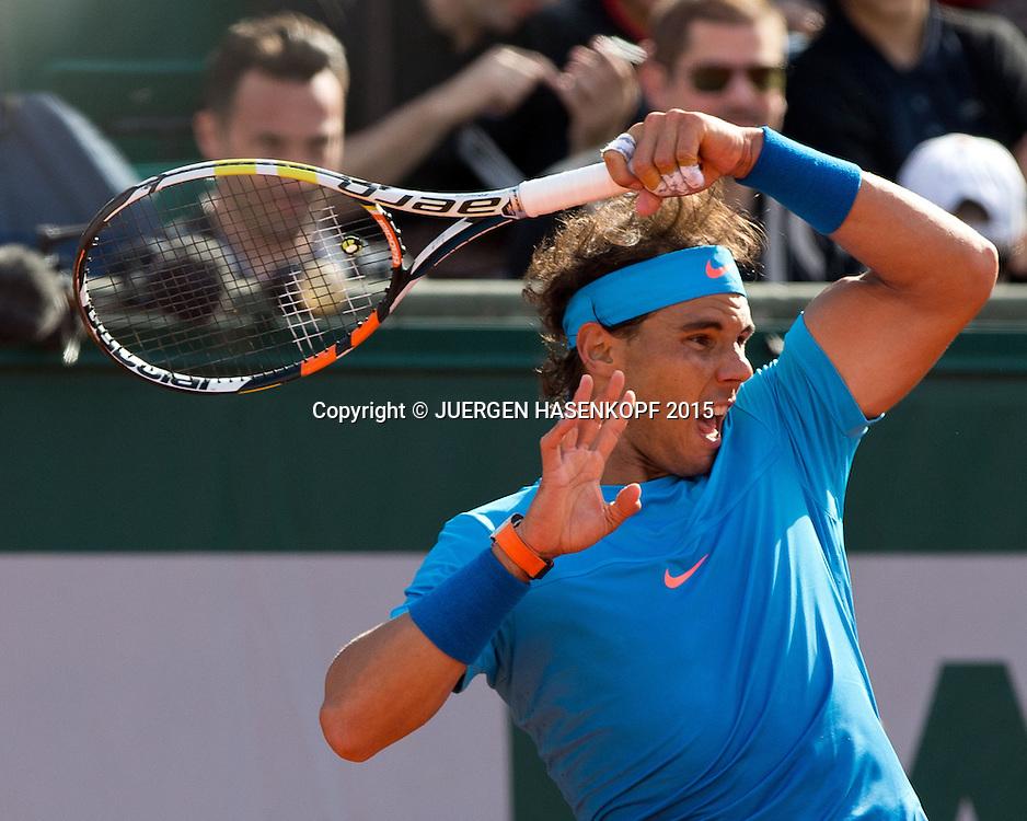 Rafael Nadal (ESP)<br /> <br /> Tennis - French Open 2015 - Grand Slam ITF / ATP / WTA -  Roland Garros - Paris -  - France  - 1 June 2015.