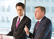 Rt Hon Ed Miliband MP<br /> and Rt Hon Ed Balls MP<br /> Labour Party Press Conference, Southbank, London, Great Britain <br /> Pre-Budget Press Conference<br /> 12th March 2012<br /> <br /> <br /> Ed Miliband <br /> <br /> Ed Balls<br /> <br /> <br /> Photograph by Elliott Franks