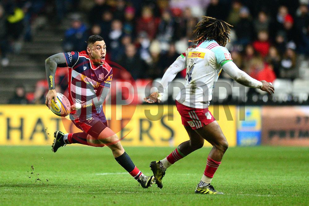 Tusi Pisi of Bristol Rugby in action against Harlequins - Mandatory by-line: Dougie Allward/JMP - 10/02/2017 - RUGBY - Ashton Gate - Bristol, England - Bristol Rugby v Harlequins - Aviva Premiership